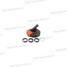 Кожух защитный для шлифовки с пылеотводом для УШМ d-125мм