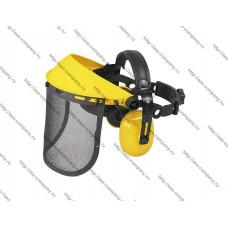 Защитный щиток регулируемый с железной сеткой и наушниками серии Ultra Pro