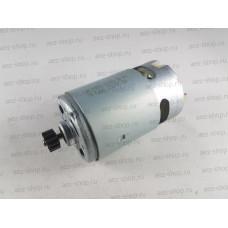 Двигатель 14,4В для шуруповертов Bosch, D-37,3мм, L вала 75мм (шестерня d-10, 12z, h-5,5)