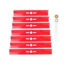 Нож для бензокосилок в комплекте с переходными шайбами длина 12,7 дюймов, толщина 4мм