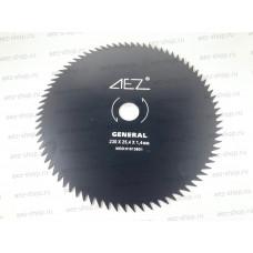 Диск косильный для бензокос, 80 зубов, наружний диаметр 230мм, посадка 25,4мм, сталь HCS