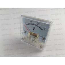 Вольтметр генератора тип 2, 44,5х44,5мм, болты 4хМ3, расст. между центрами болтов 22,5мм, 33мм