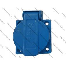 Блок-розетка для генераторов синяя