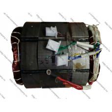 Статор подходит для генераторамощностью 6,5кВт, длина по железу 150мм, d-190мм для Интерскол ЭБ-6500