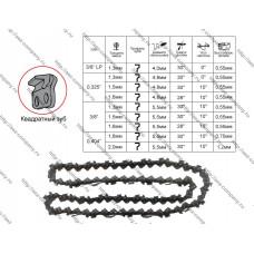 Пильная цепь, шаг 0.325, толщина звена 1.5, 72 звена серия Ultra Pro квадратный зуб