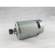 Двигатель 12В для Ni-Cd шуруповертов Интерскол D-37,4мм, L вала 75мм (шестерня d-10, 12z, h-7мм)