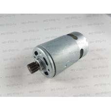 Двигатель 18В для Ni-Cd шуруповертов Интерскол D-37,3мм, L вала 75мм (шестерня d-10, 12z, h-7мм)