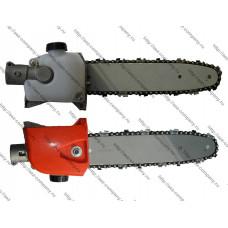 Насадка-сучкорез для бензокосы с масляным бачком  под трубу d-26мм, вал 9 зубьев